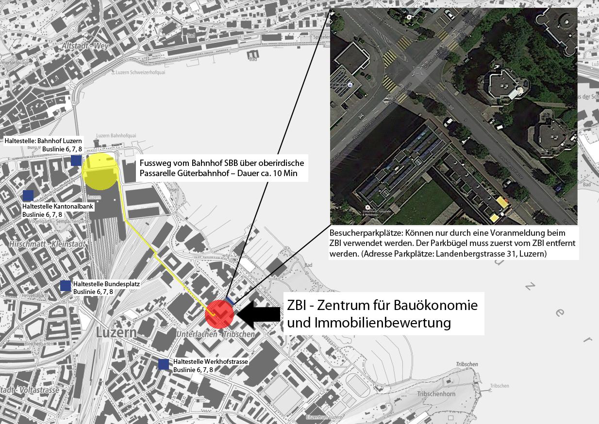 Karte Bürgenstrasse 19 in Luzern